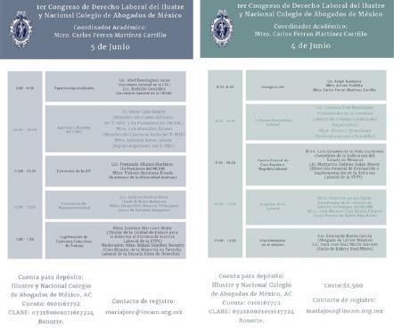 1er Congreso de Derecho Laboral.