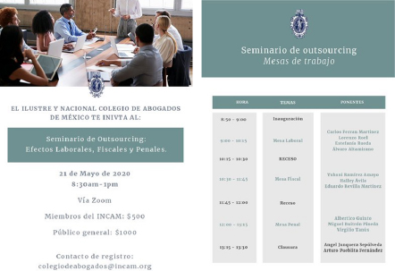Seminario de Outsourcing: Efectos Laborales, Fiscales y Penales.