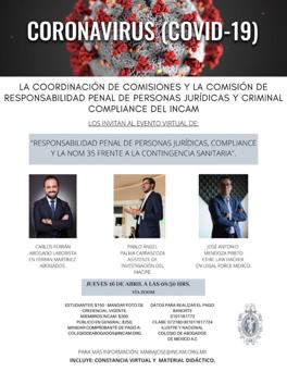 Responsabilidad Penal de Personas Jurídicas, Compliance y la Nom 35 frente a la Contingencia Sanitaria
