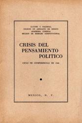 Crisis del Pensamiento Político