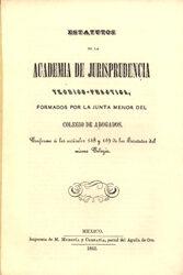 Estatutos de la Academia de Jurisprudencia Teórico -Práctica