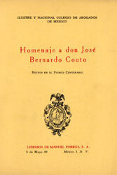 Homenaje a don José Bernardo Couto